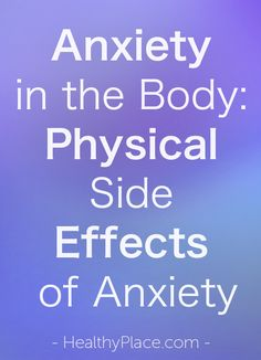 side effects of anxiety