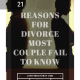 21 Reasons For Divorce (Every Married Couple Must Read)