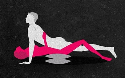 Modified Missionary sex position to stimulate the g-spot